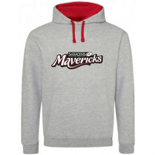 Varsity Hoody Grey/Red Junior